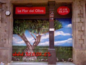 graffitis flor del olivo persiana