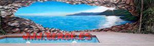 Graffiti playa 3d terraza