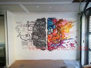 graffiti cerebro lado derecho izquierdo