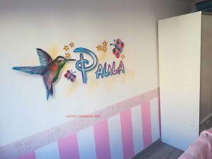 mural colibri Paula
