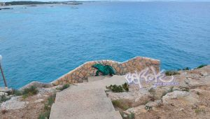 graffiti Formentera con lagartija en hotel Sunway