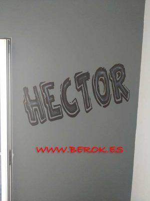 Mi nombre en graffiti Hector