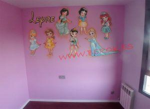 Mural infantil Princesas Disney