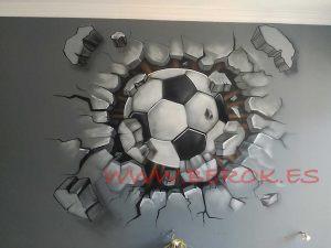 graffiti habitacion futbol juvenil