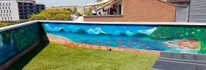 mural terraza playa