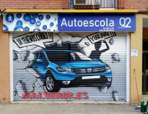 graffiti persiana autoescola Q2