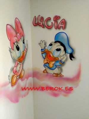 graffiti donald Daisy  bebes