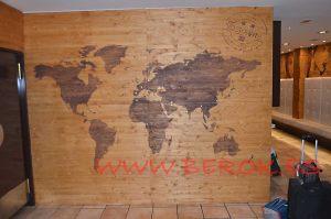 mural mapa madera