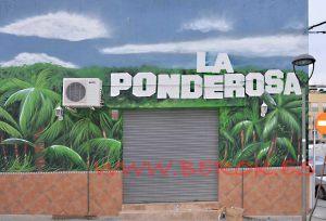 graffiti bar ponderosa mural