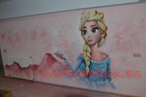 mural-elsa-frozen-habitacion