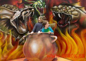 3d mural graffiti trampantojo