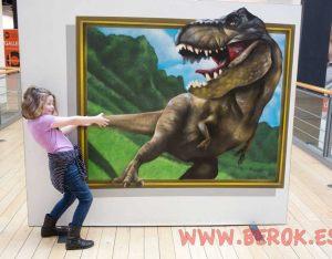 3d graffiti dinosaurio