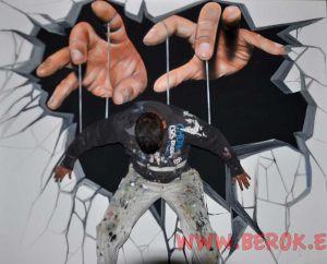 3d títere manos