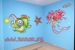 murales-infantiles-medusa-pez