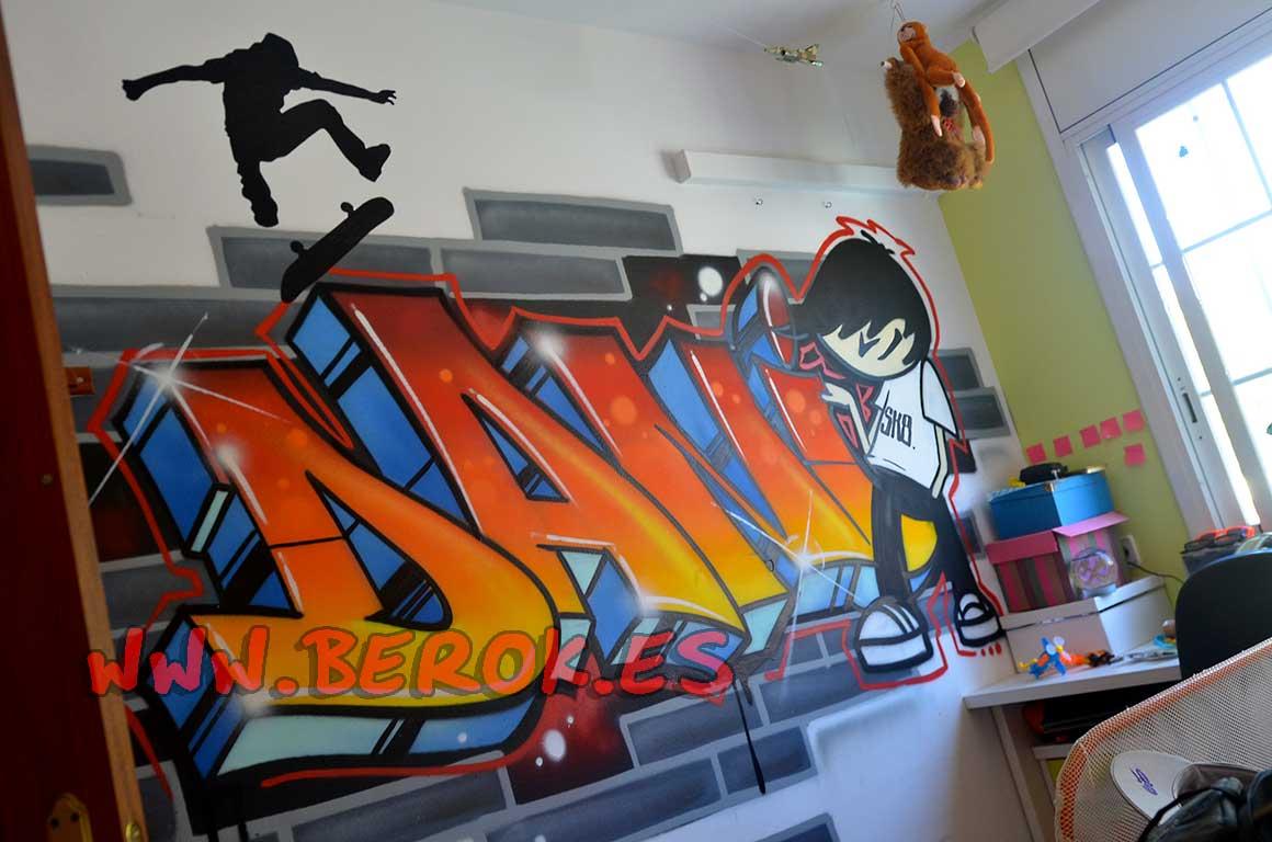 Berok graffiti profesional barcelona resultados de b squeda - Graffitis para habitaciones ...