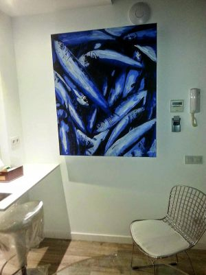 Decoracion-mural-apartamentos-cuadro-de-luz-sardinas