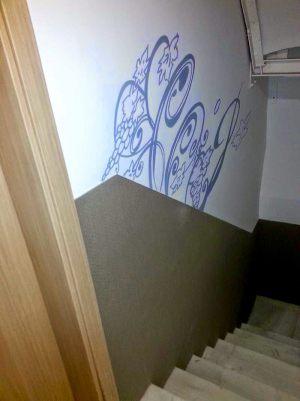 Decoracion-mural-apartamentos-floral-uvas