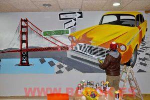 Graffiti-taxi