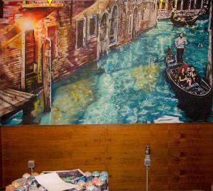 mural-restaurante-impresionista-Venecia