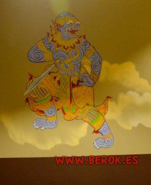 mural-ramayana-mono-oro-miranda-bangkok-tailandia