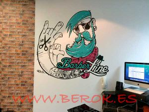 Graffiti-decorativo-interior-barberia-Barberline