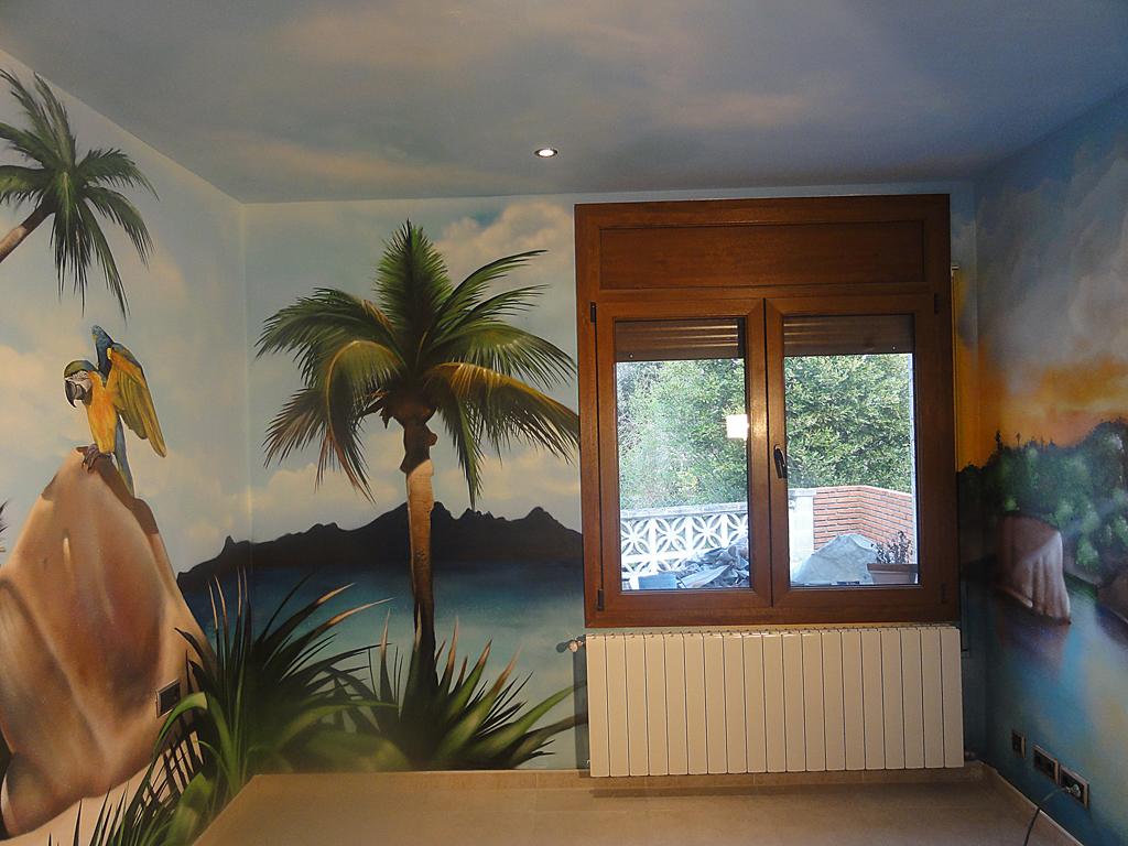 Berok graffiti profesional barcelona resultados de b squeda for Murales decorativos paisajes