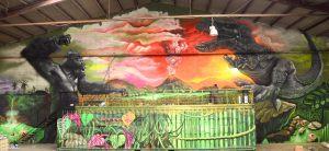 mural-dinosaurio-king-kong