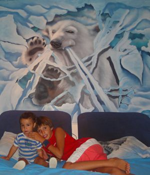 mural-oso-polar-habitacion-matrimonio