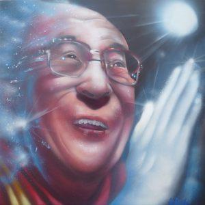 cuadro-Dalai-Lama-by-Berok