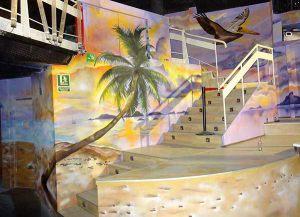 decoracion-mural-bora-bora-palmera-beach