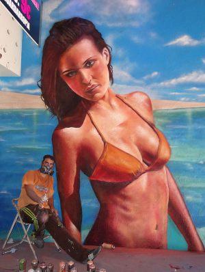 mural-chica-playa