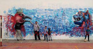 mural iglesia de Sitges con Daniel Fontdevila