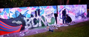 Exhibicion-de-graffiti-en-directo-para-la-fiesta-americana-de-Autotask-NY-en-hotel-Juan-Carlos-I