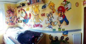 graffiti-videojuegos-habitacion-juvenil
