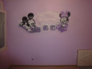 mural-mickey-mouse-minnie-bebes-habitacion-nina
