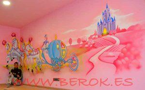 berok graffiti profesional barcelona habitaciones de ni a On murales infantiles nina