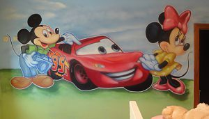 rayo-mcqueen-mickey-y-minnie-mouse