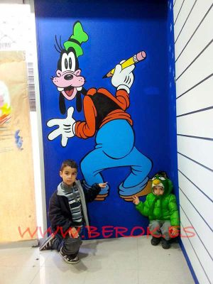 Mural-infantil-Goofy-Cartoon-City-Vilanova