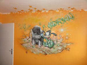 Mural-infantil-Goofy-y-perro