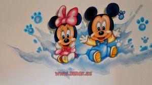 Murales-infantiles-Minnie-Mouse