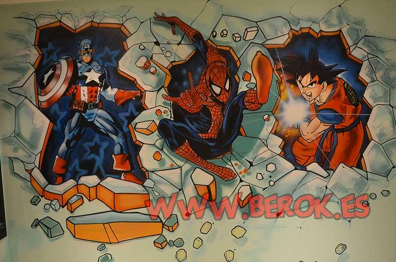 Berok graffiti profesional barcelona resultados de b squeda for Mural habitacion juvenil