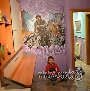 Graffitis-Call-of-Duty-en-habitacion-juvenil