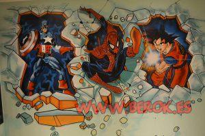 graffitis-capitan-america-spiderman-goku