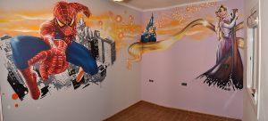 mural-spiderman-Rapunzel