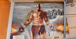 graffiti-habitacion-God-of-Wars-videojuego