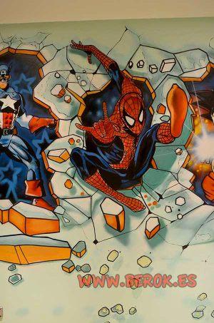 habitacion-spiderman-mural