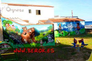 mural_infantil_osos_camping