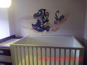 mural-infantil-dino