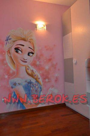 Berok graffiti profesional barcelona habitaciones de ni a for Cuartos para ninas frozen