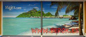 Graffiti-mural-de-playa-en-oficina
